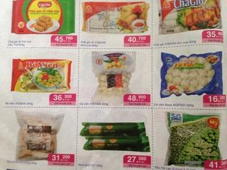 ホーチミン スーパー チラシ 冷凍食品.JPG