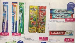 ホーチミン スーパー チラシ 歯ブラシ.JPG